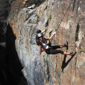 Rappelling at the canyon