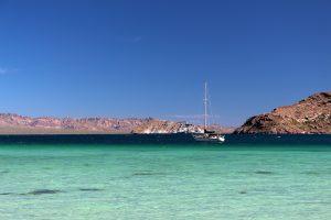Turquoise beautiful waters in Baja Concepcion Bay