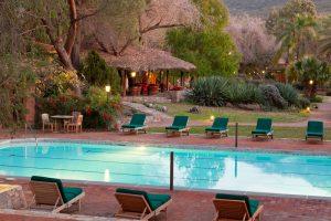 Guest pool at Rancho la Puerta
